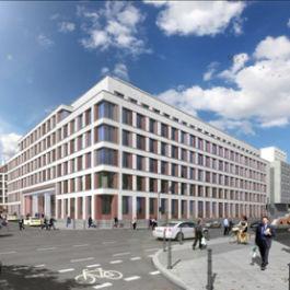 Neubau eines Bürogebäudes nach Passivhaus-Standards