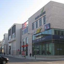 Neubau des neuen Einkaufszentrum Glacis-Galerie in Neu Ulm