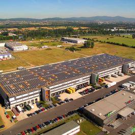 Leistungsplanung durch das Ingenieurbüro Klöffel für die Photovoltaikanlage des Logistikparks Kelsterbach