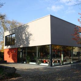 Bau der Mensa für die Lindenschule in Großauheim