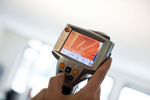 Thermografiebilder, Wärmebildkamera, Luftmengen ermitteln